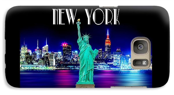 Statue Of Liberty Galaxy S7 Case - New York Shines by Az Jackson