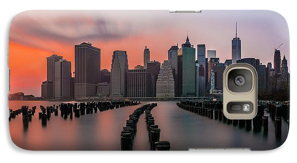 Galaxy Case featuring the photograph New York Sunset by RC Pics