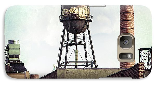 Galaxy Case featuring the photograph New York Water Towers 19 - Urban Industrial Art Photography by Gary Heller