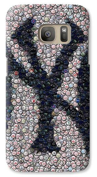 New York Yankees Bottle Cap Mosaic Galaxy S7 Case