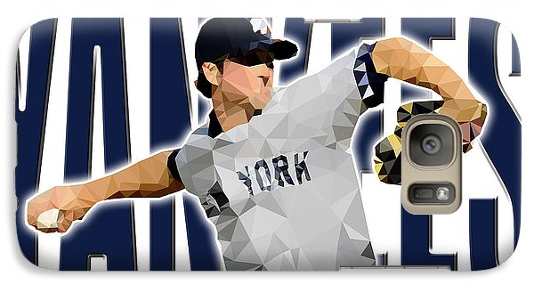 Galaxy Case featuring the digital art New York Yankees by Stephen Younts