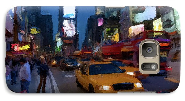 Galaxy Case featuring the painting New York Yellow Cab by David Dehner