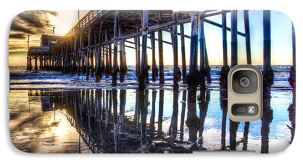 Galaxy Case featuring the photograph Newport Beach Pier - Reflections by Jim Carrell
