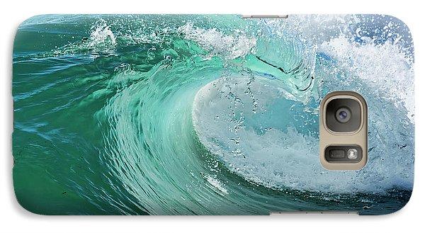 Galaxy Case featuring the photograph Newport Beach Wave Curl by Eddie Yerkish