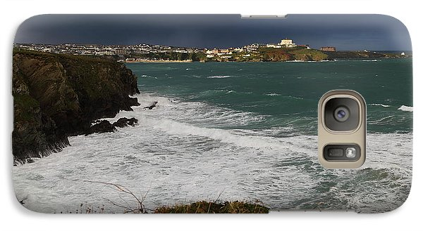 Galaxy Case featuring the photograph Newquay Squalls On Horizon by Nicholas Burningham