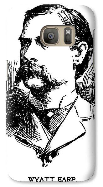 Galaxy Case featuring the mixed media Newspaper Image Of Wyatt Earp 1896 by Daniel Hagerman
