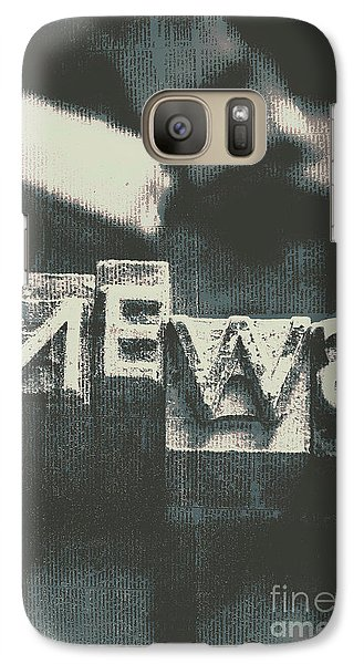 Newspaper Printing Press Art Galaxy S7 Case