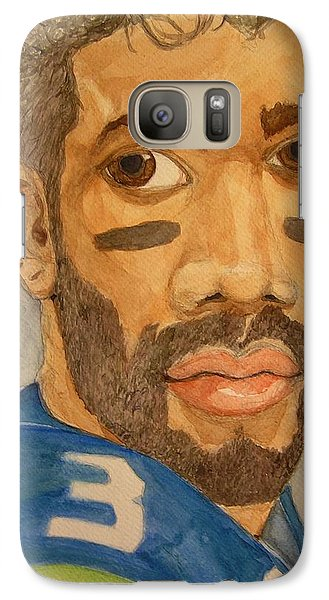 Galaxy Case featuring the painting New School Football Seattle by Rand Swift