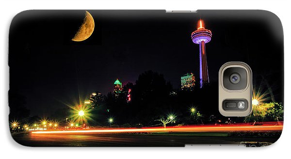 Galaxy Case featuring the photograph Niagara Falls Crescent Moon by Charline Xia