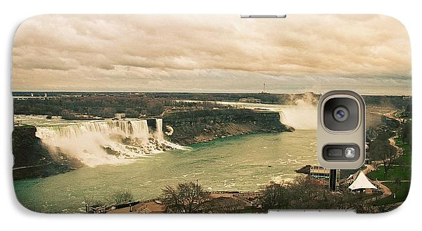 Galaxy Case featuring the photograph Niagara Falls by Mary Machare
