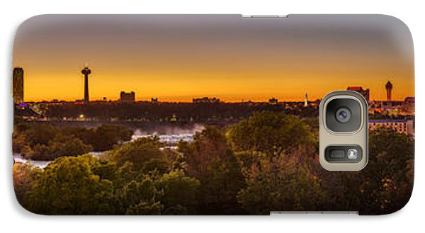 Galaxy Case featuring the photograph Niagara Falls Twilight From The 9th Floor by Chris Bordeleau