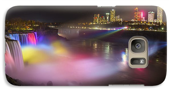 Galaxy Case featuring the photograph Niagara Rainbow by Mark Papke