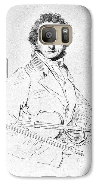 Violin Galaxy S7 Case - Nicolo Paganini (1782-1840) by Granger