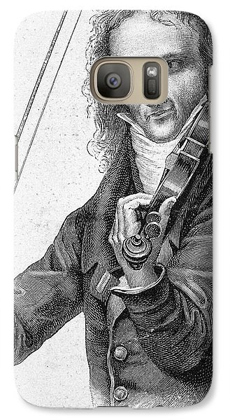Violin Galaxy S7 Case - Nicolo Paganini by Granger
