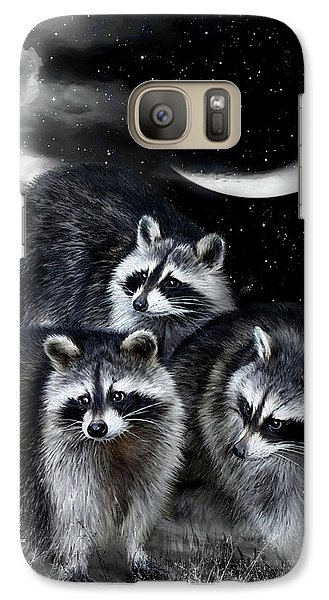 Night Bandits Galaxy Case by Carol Cavalaris