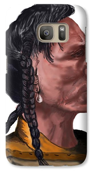Galaxy Case featuring the drawing Night Bear by Terry Frederick