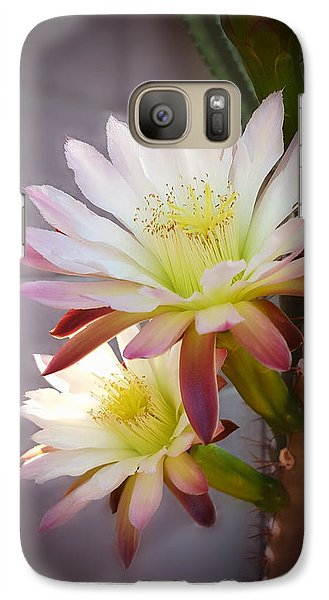 Galaxy Case featuring the photograph Night Blooming Cereus by Marilyn Smith