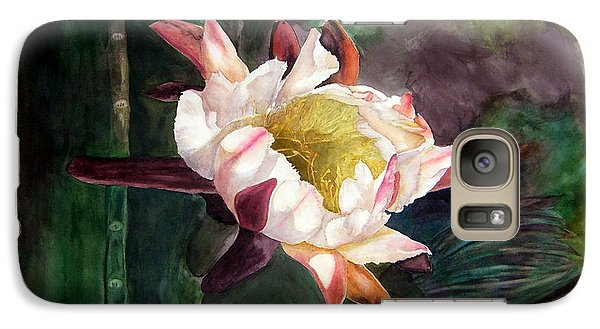Galaxy Case featuring the painting Night Blooming Cereus by Sharon Mick