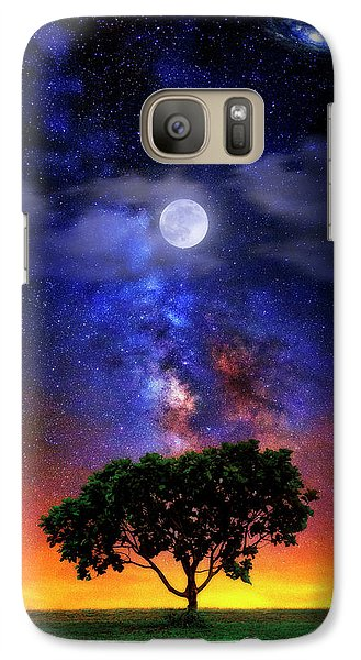 Galaxy Case featuring the photograph Night Colors by Justin Kelefas