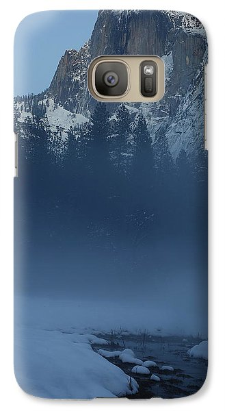 Galaxy Case featuring the photograph Night Falls Upon Half Dome At Yosemite National Park by Jetson Nguyen