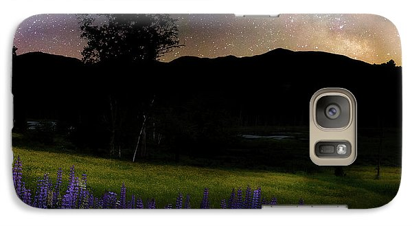 Galaxy S7 Case featuring the photograph Night Flowers Square by Bill Wakeley