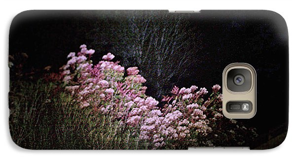 Galaxy Case featuring the photograph Night Flowers by YoMamaBird Rhonda