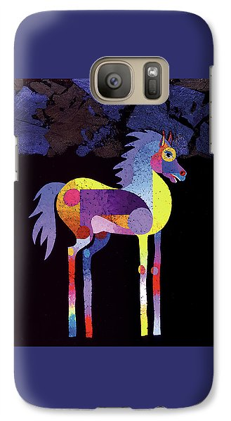 Galaxy Case featuring the painting Night Foal by Bob Coonts