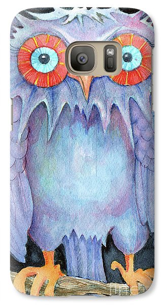 Galaxy Case featuring the painting Night Owl by Lora Serra