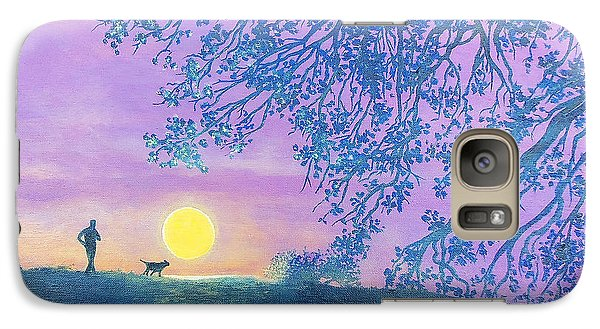 Galaxy Case featuring the painting Night Runner by Susan DeLain