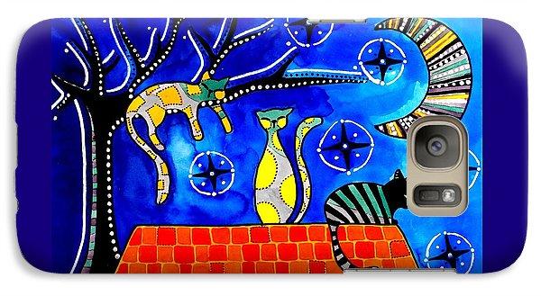 Night Shift - Cat Art By Dora Hathazi Mendes Galaxy S7 Case