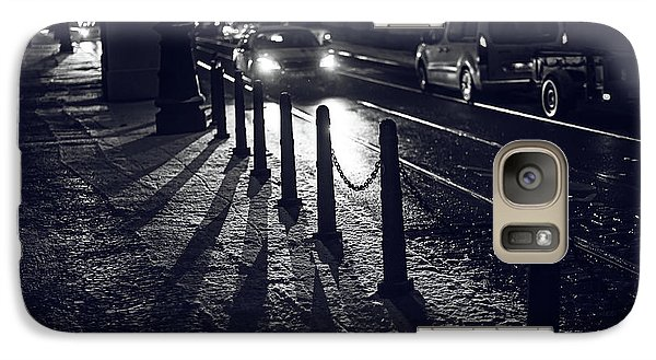 Galaxy Case featuring the photograph Night Street Of Prague by Jenny Rainbow