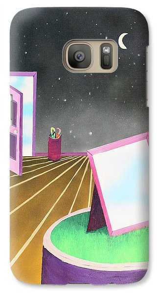 Galaxy Case featuring the painting Night by Thomas Blood