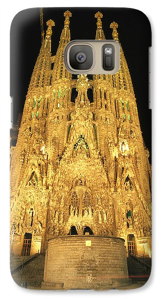 Night View Of Antoni Gaudis La Sagrada Galaxy S7 Case