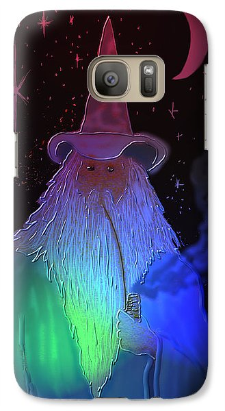 Galaxy Case featuring the painting Night Wizard by Kevin Caudill