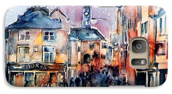 Galaxy Case featuring the painting Nightfall. High St. Kilkenny City  Ireland  by Trudi Doyle