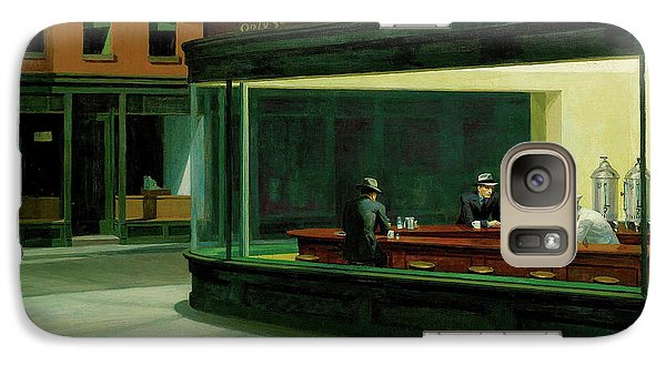 Galaxy Case featuring the painting Nighthawks by Artist A