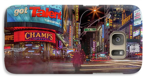 Times Square Galaxy S7 Case - Nights On Broadway by Az Jackson