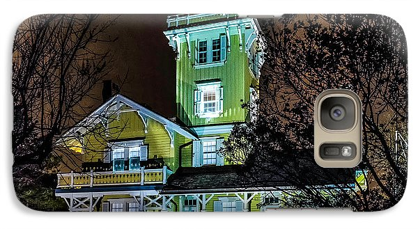 Galaxy Case featuring the photograph Nighttime Fog At Hereford Inlet by Nick Zelinsky