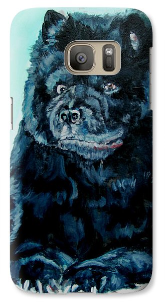 Galaxy Case featuring the painting Nikki The Chow by Bryan Bustard