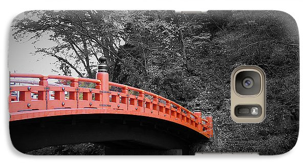 Nikko Red Bridge Galaxy Case by Naxart Studio