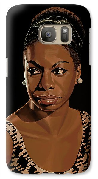 Rhythm And Blues Galaxy S7 Case - Nina Simone Painting 2 by Paul Meijering