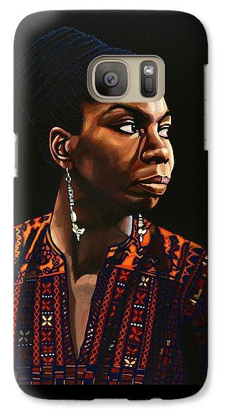 Nina Simone Painting Galaxy S7 Case by Paul Meijering