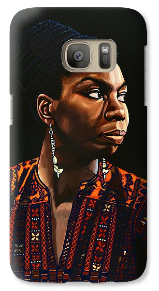 Rhythm And Blues Galaxy S7 Case - Nina Simone Painting by Paul Meijering