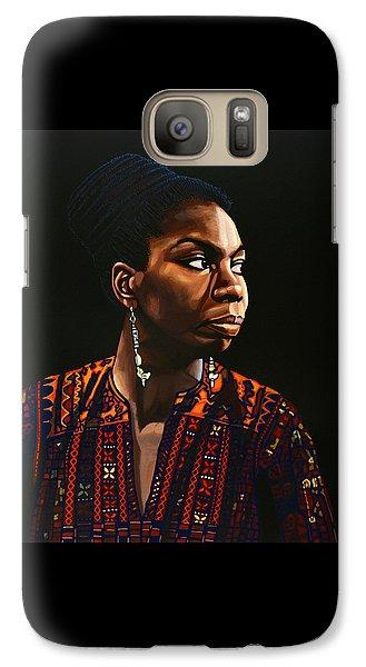 Nina Simone Painting Galaxy Case by Paul Meijering
