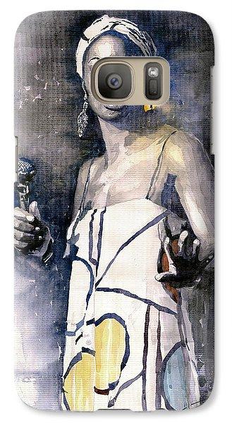Jazz Galaxy S7 Case - Nina Simone by Yuriy Shevchuk
