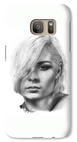 Galaxy S7 Case - Nina Nesbitt Drawing By Sofia Furniel by Jul V