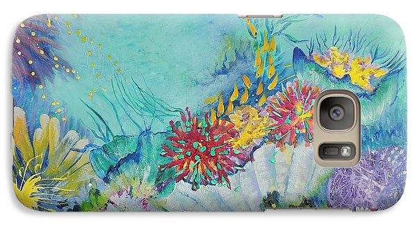 Galaxy Case featuring the painting Ningaloo Reef by Lyn Olsen