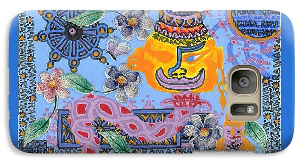 Galaxy Case featuring the painting Nirvana Equals Absolute Happiness by Peter Gumaer Ogden