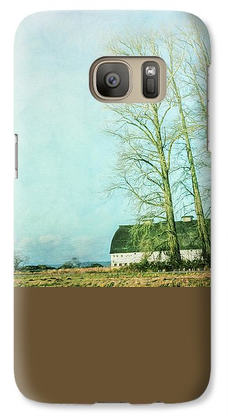 Galaxy Case featuring the photograph Nisqually Barns by Jean OKeeffe Macro Abundance Art