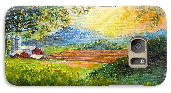 Galaxy Case featuring the painting Nixon's Majestic Farm View by Lee Nixon